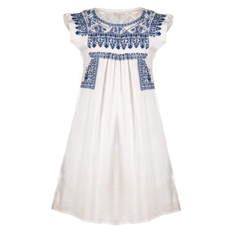 With an easy to wear flattering style, this Nomadic Gypsy Bluebell is a knee length dress with pockets. This is the all year round perfect summer dress. From Beshlie Mckelvie.