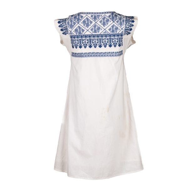 Back of Nomadic Gypsy Bluebell is a knee length dress with pockets. This is the all year round perfect summer dress. From Beshlie Mckelvie.
