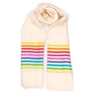 Rainbow Cashmere Scarves