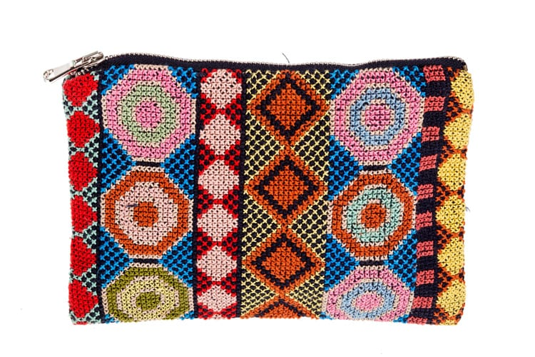Syrian fair trade embroidered purse