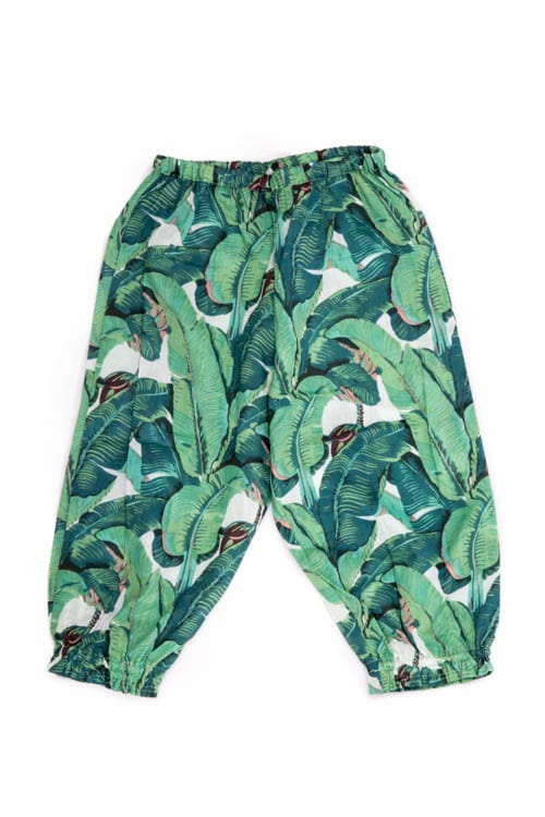 Have a look at these kids Rain Forest Trousers that have a cool & funky print all over it. The elastic on the waist makes it them comfy for your little one. From Beshlie Mckelvie.