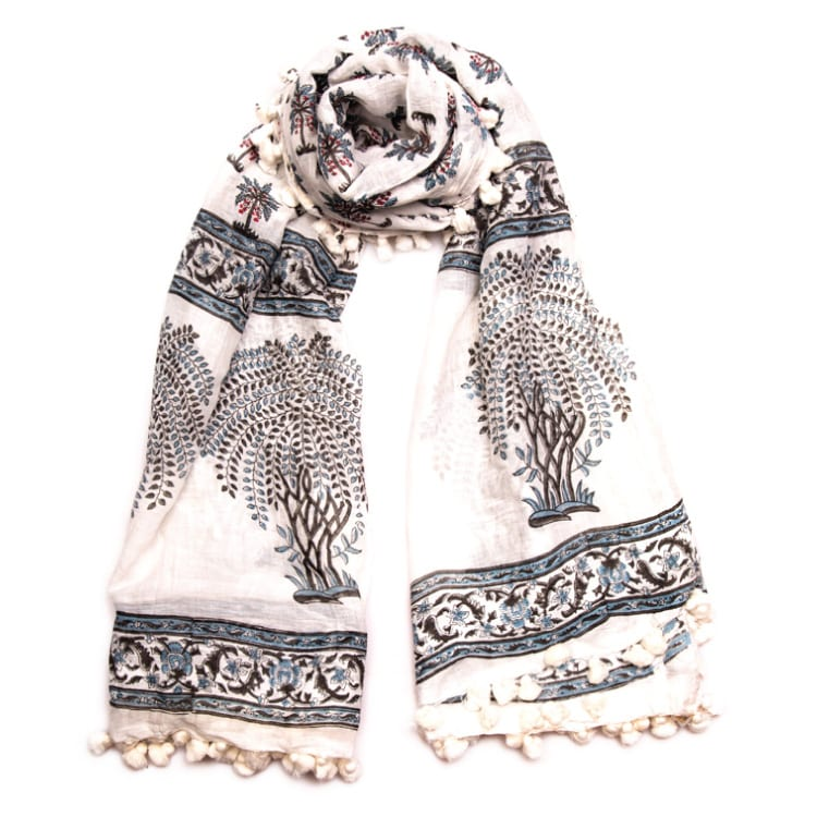 Blue Palm Scarf