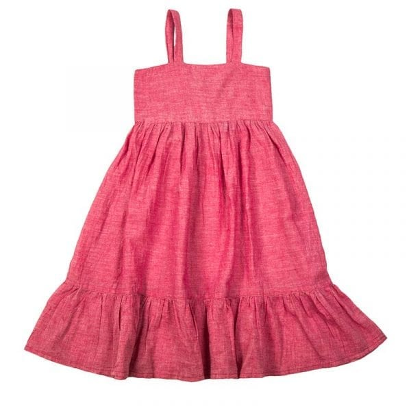 Classic style mini nomadic toddlers dress hand loomed in Khadi cotton. Meadow sweet rose is our cute dress, perfect for summer meadow picnics & beach days. From Beshlie Mckelvie.