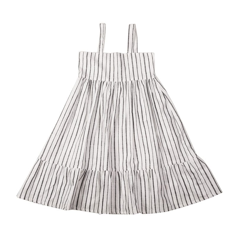 Made with 100% organic cotton, this Lillian toddler dress is completely perfect for summers. The Hand block printed stripes are super cute. From Beshlie Mckelvie.