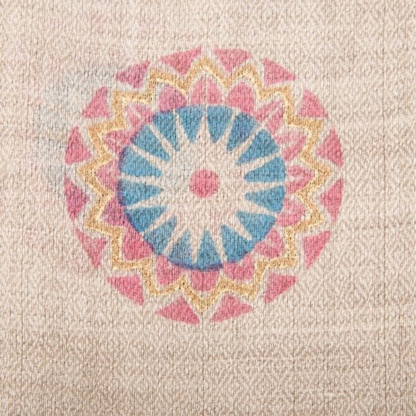 Close up detail of Mandala print on Beshlie Mckelvie cashmere scarf