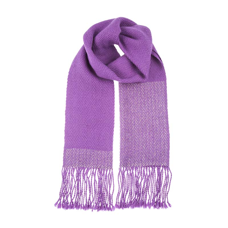 Beshlie McKelvie shawl. Stunning amethyst shawl in luxurious, lightweight Alpaca wool, perfect for all occasions. The purple colour of this shawl is bright and beautiful.