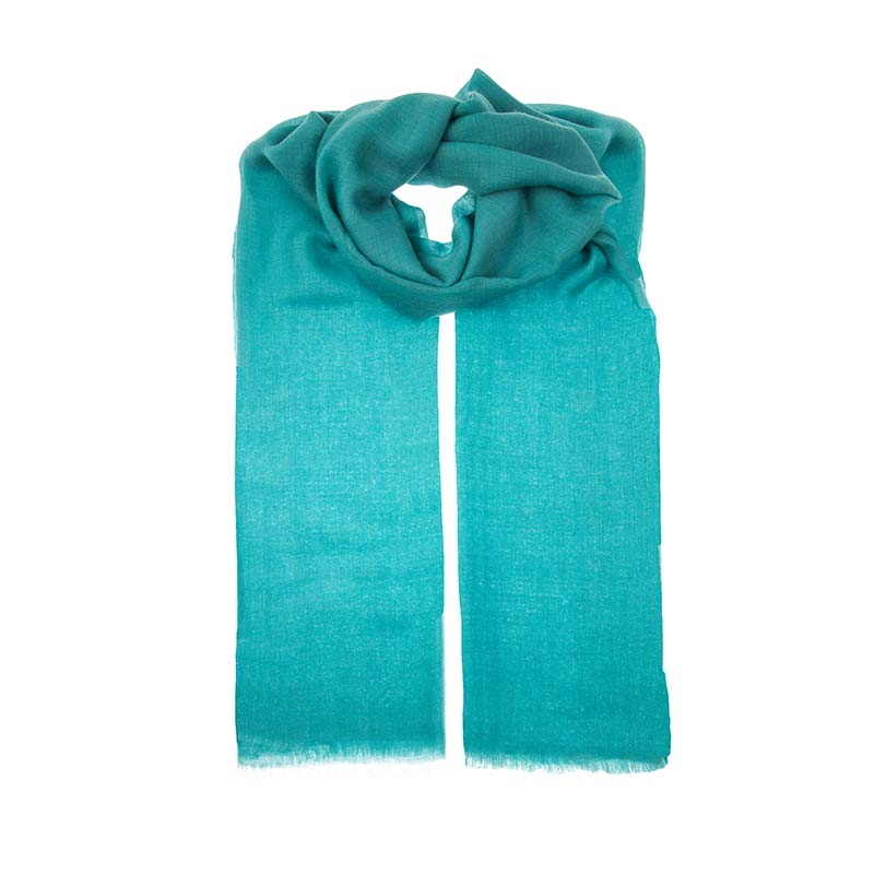 Beautiful arcadia Cashmere deep turquoise shawl. Hand woven and dyed, these scarfs are one of a kind, made fair trade and with love from Beshlie McKelvie.