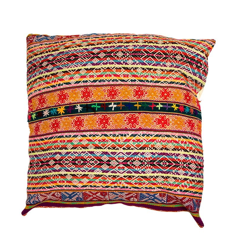 Decorative Cusco Cushion, traditionally hand made in the Peruvian Andes in partnership with a fair trade women's cooperative. Add a statement to any room with cushions from Beshlie McKelvie.