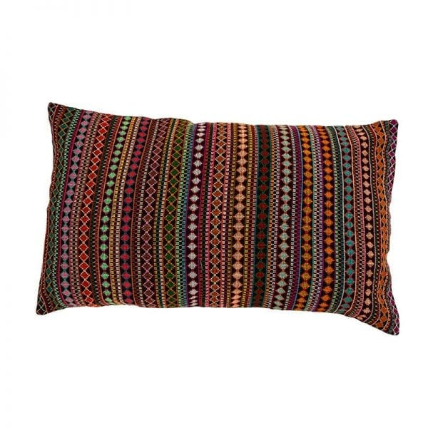 Original and unique hand embroidered cushion, made in Syria. This beautiful earth tone cushion is made of 100% cotton thread & backed with 100% linen. From Beshlie McKelvie in collaboration with Sabbara.