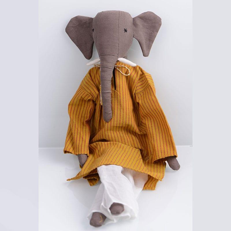 Gorgeous upcycled children's elephant stuffed toy.